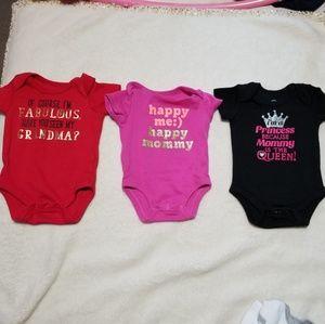 9 Newborn Girl Onesies Bundle